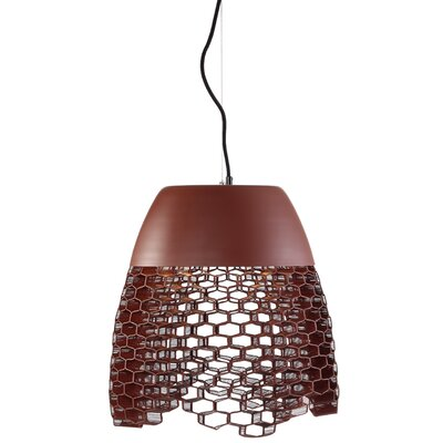 Schema High Boy 2-Light Mini Pendant Finish: Terricotta