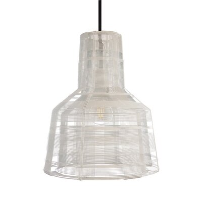 Schema Section 1-Light Mini Pendant Finish: White