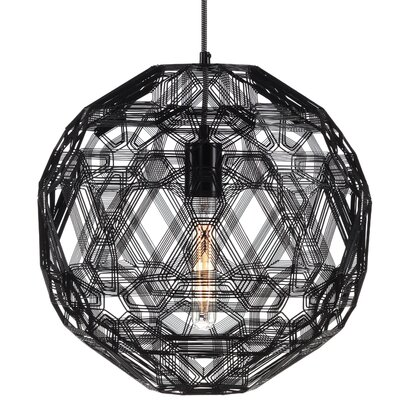 Schema Zatellite 1-Light LED Globe Pendant Finish: Black, Size: 19.75 H x 19.75 W x 19.75 D
