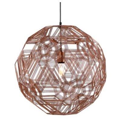 Schema Zatellite 1-Light LED Globe Pendant Finish: Florentine, Size: 15.75 H x 15.75 W x 15.75 D