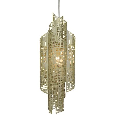 Zedd 1-Light LED Foyer Pendant Size: Large (39 H x 13 W x 9 D), Finish: Gold