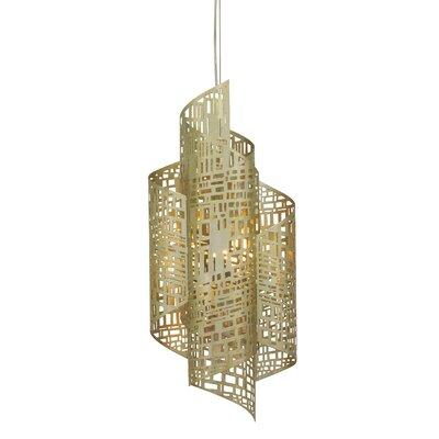 Zedd 1-Light LED Foyer Pendant Size: Small (31 H x 13 W x 9 D), Finish: Gold