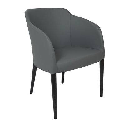 Estes Arm Chair Upholstery: Gray, Finish: Wenge