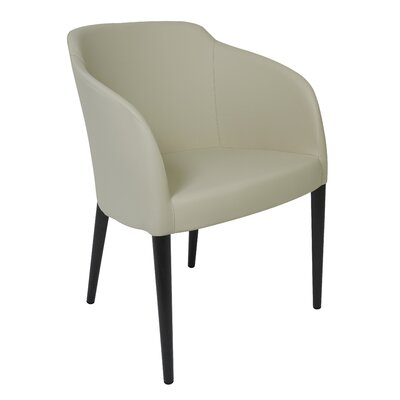 Estes Arm Chair Upholstery: Taupe, Finish: Wenge