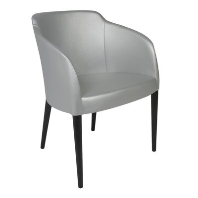 Estes Upholstered Dining Chair Upholstery: Silver, Finish: Wenge