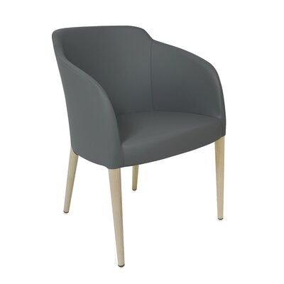 Estes Upholstered Dining Chair Upholstery: Gray, Finish: Unfinished