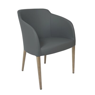Estes Arm Chair Upholstery: Gray, Finish: Oak