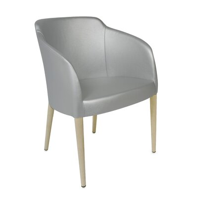 Estes Upholstered Dining Chair Upholstery: Silver, Finish: Unfinished