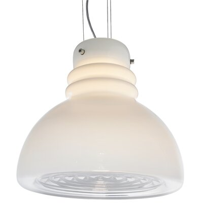 Grande Torino Suspension 1-Light Inverted Pendant Shade Color: White