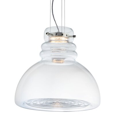 Grande Torino Suspension 1-Light Inverted Pendant Shade Color: Clear