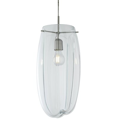 Carlo 1-Light Mini Pendant Shade Color: Clear