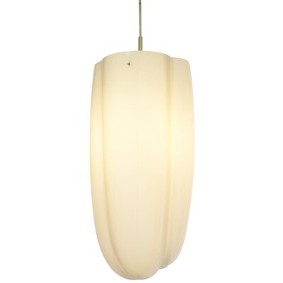Carlo 1-Light Mini Pendant Shade Color: White