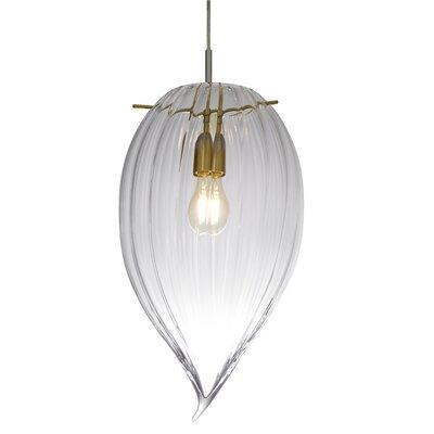 Onion 1-Light Mini Pendant Size: 12 H x 7 W x 7 D