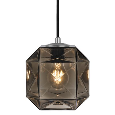 Mimo Cube 1-Light Mini Pendant Shade Color: Bronze
