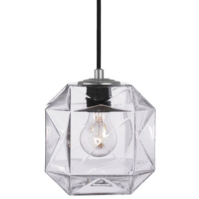 Mimo Cube 1-Light Mini Pendant Shade Color: Clear