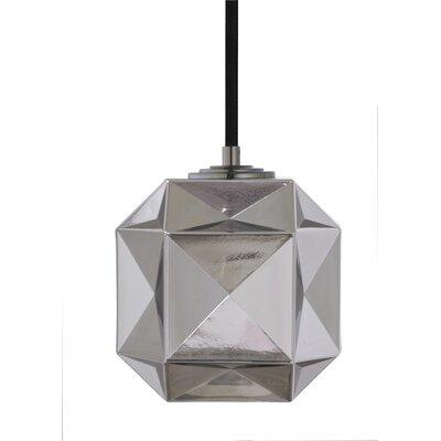 Mimo Cube 1-Light Mini Pendant Shade Color: Gunmetal
