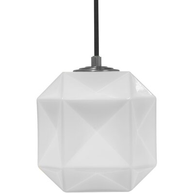 Mimo Cube 1-Light Mini Pendant Shade Color: White