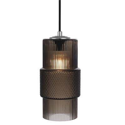 Mimo Cylinder 1-Light Mini Pendant Shade Color: Bronze