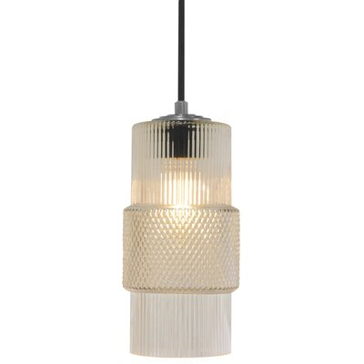 Mimo Cylinder 1-Light Mini Pendant Shade Color: Clear