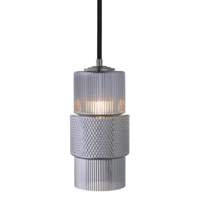 Mimo Cylinder 1-Light Mini Pendant Shade Color: Gunmetal