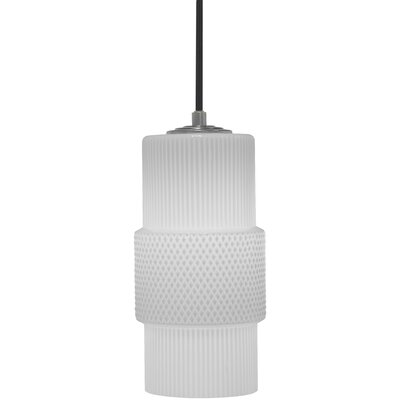 Mimo Cylinder 1-Light Mini Pendant Shade Color: White