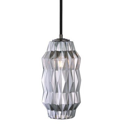 Mimo Faceted 1-Light Mini Pendant Shade Color: Gunmetal