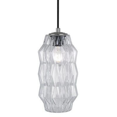 Mimo Faceted 1-Light Mini Pendant Shade Color: Clear