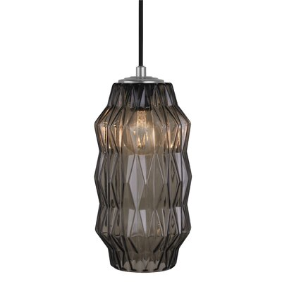 Mimo Faceted 1-Light Mini Pendant Shade Color: Bronze