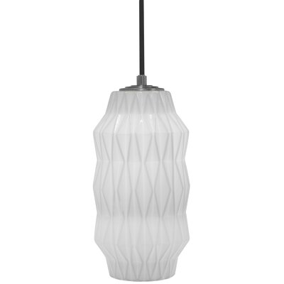 Mimo Faceted 1-Light Mini Pendant Shade Color: White