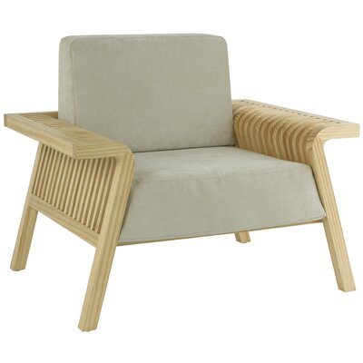 Flori Armchair Upholstery: Taupe