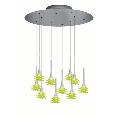 Mimosa Suspension Lamp Shade Color: Lime