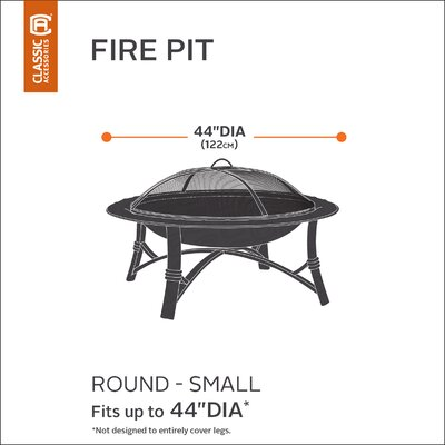 Hickory Heavy-Duty Fire Pit Cover Size: Small
