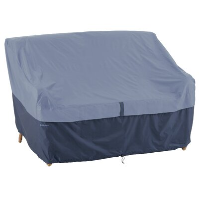 Belltown Loveseat Cover Size: Medium, Color: Blue