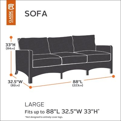Hickory Heavy-Duty Sofa Loveseat Cover Size: Large