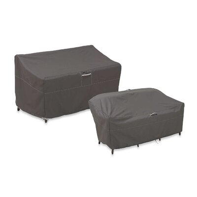 Ravenna Patio Loveseat Cover Size: Medium