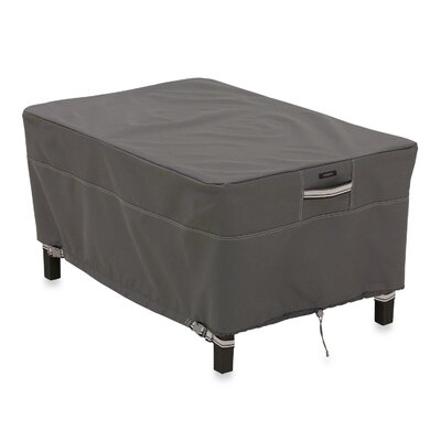 Ravenna Ottoman/Side Table Cover Size: Large