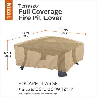 Terrazzo Square Fire Pit Cover Size: 12 H x 36 W x 36 D