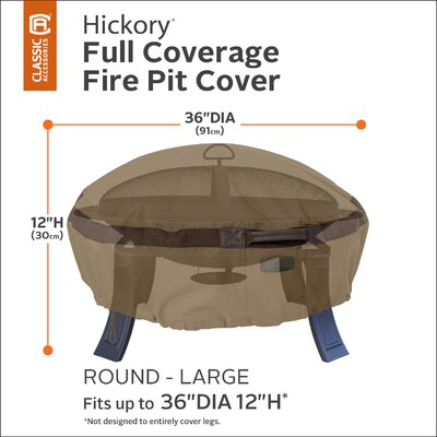 Hickory Fire Pit Cover Size: 36 Diameter