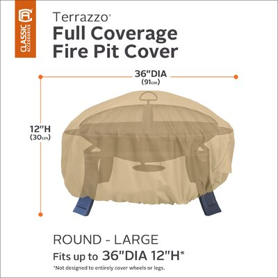 Terrazzo Fire Pit Cover Size: 12 H x 36 W x 36 D