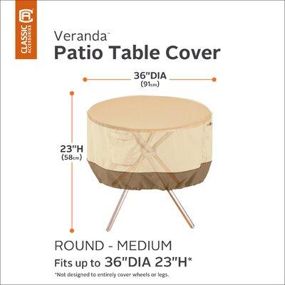Veranda Table Cover Size: 36 Diameter