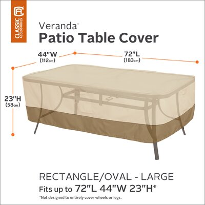 Veranda Table Cover Size: Large