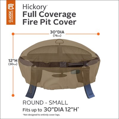 Hickory Fire Pit Cover Size: 30 Diameter