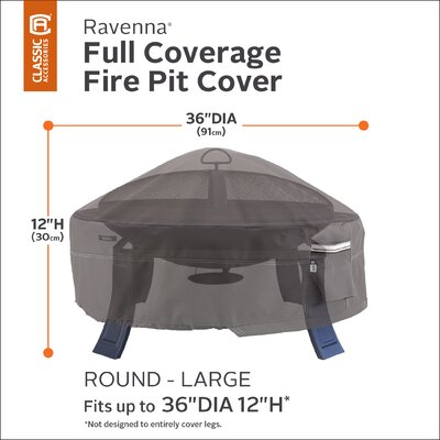 Ravenna Fire Pit Cover Size: 36 Diameter