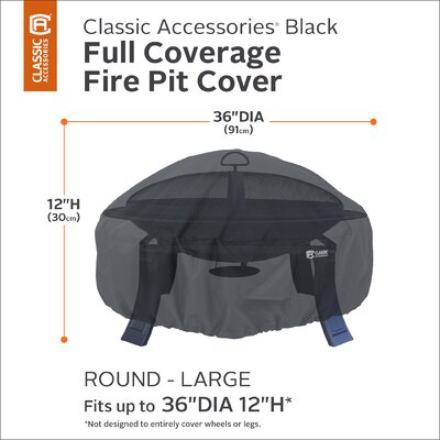 Classic Fire Pit Cover Size: 36 Diameter