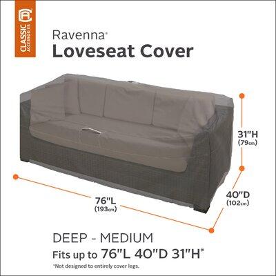 Ravenna Love Seat Cover Size: Medium