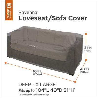 Ravenna Love Seat Cover Size: X-Large