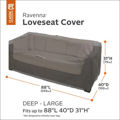 Ravenna Love Seat Cover Size: Large