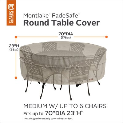 Montlake Dining Set Cover Size: 23 H x 70 W x 70 D