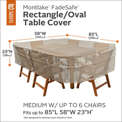 Montlake Dining Set Cover Size: 23 H x 88 W x 58 D