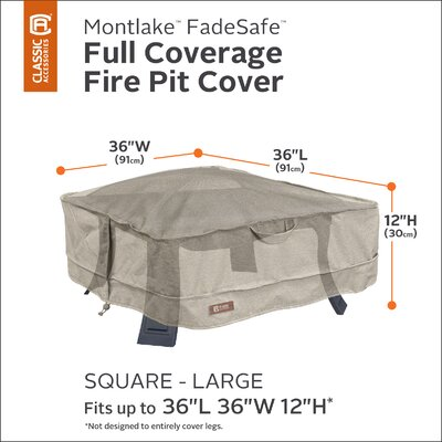 Montlake Fire Pit Cover Size: 12 H x 36 W x 36 D